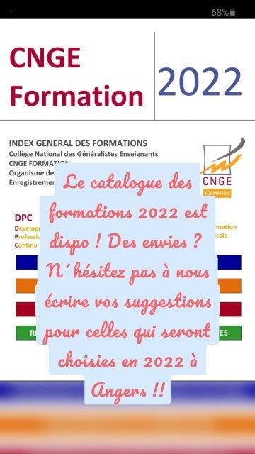 Le catalogue des formations 2022 est dispo ! Des envies ? N´hésitez pas à nous écrire vos suggestions pour celles qui seront choisies en 2022 à Angers !!
